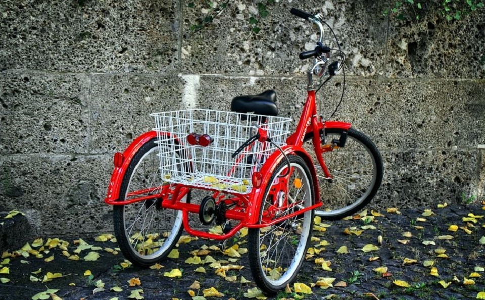 Tricycle adulte rouge
